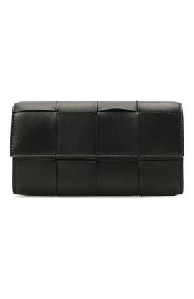 Женские кожаный кошелек BOTTEGA VENETA черного цвета, арт. 651387/VCQC4 | Фото 1 (Кросс-КТ: другое)