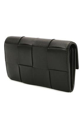 Женские кожаный кошелек BOTTEGA VENETA черного цвета, арт. 651387/VCQC4 | Фото 2 (Кросс-КТ: другое)