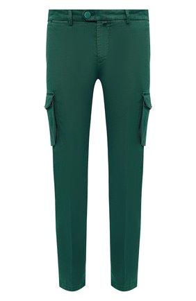 Мужские брюки-карго изо льна и хлопка KITON зеленого цвета, арт. UFPPCAJ07T38 | Фото 1