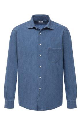Мужская рубашка KITON темно-синего цвета, арт. UMCNERCH0763003/46-50 | Фото 1