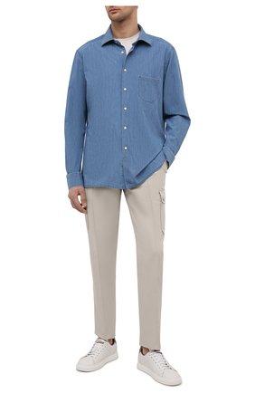 Мужская рубашка KITON темно-синего цвета, арт. UMCNERCH0763003/46-50 | Фото 2