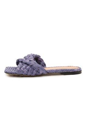 Женские текстильные шлепанцы stretch BOTTEGA VENETA сиреневого цвета, арт. 652860/V0GM0 | Фото 3