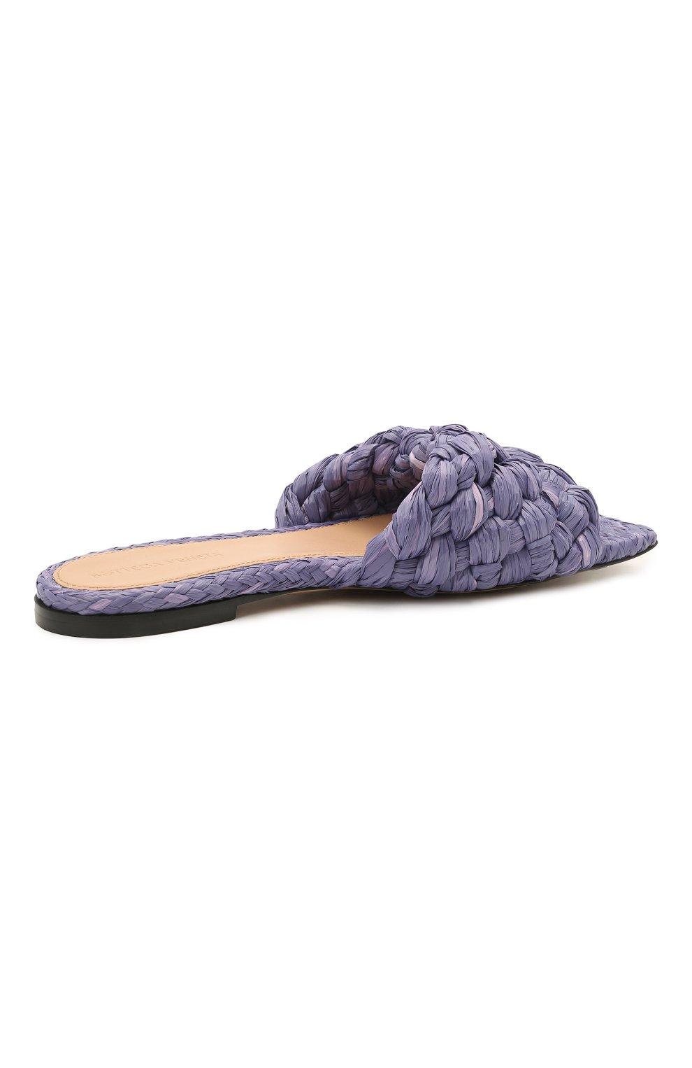 Женские текстильные шлепанцы stretch BOTTEGA VENETA сиреневого цвета, арт. 652860/V0GM0 | Фото 4