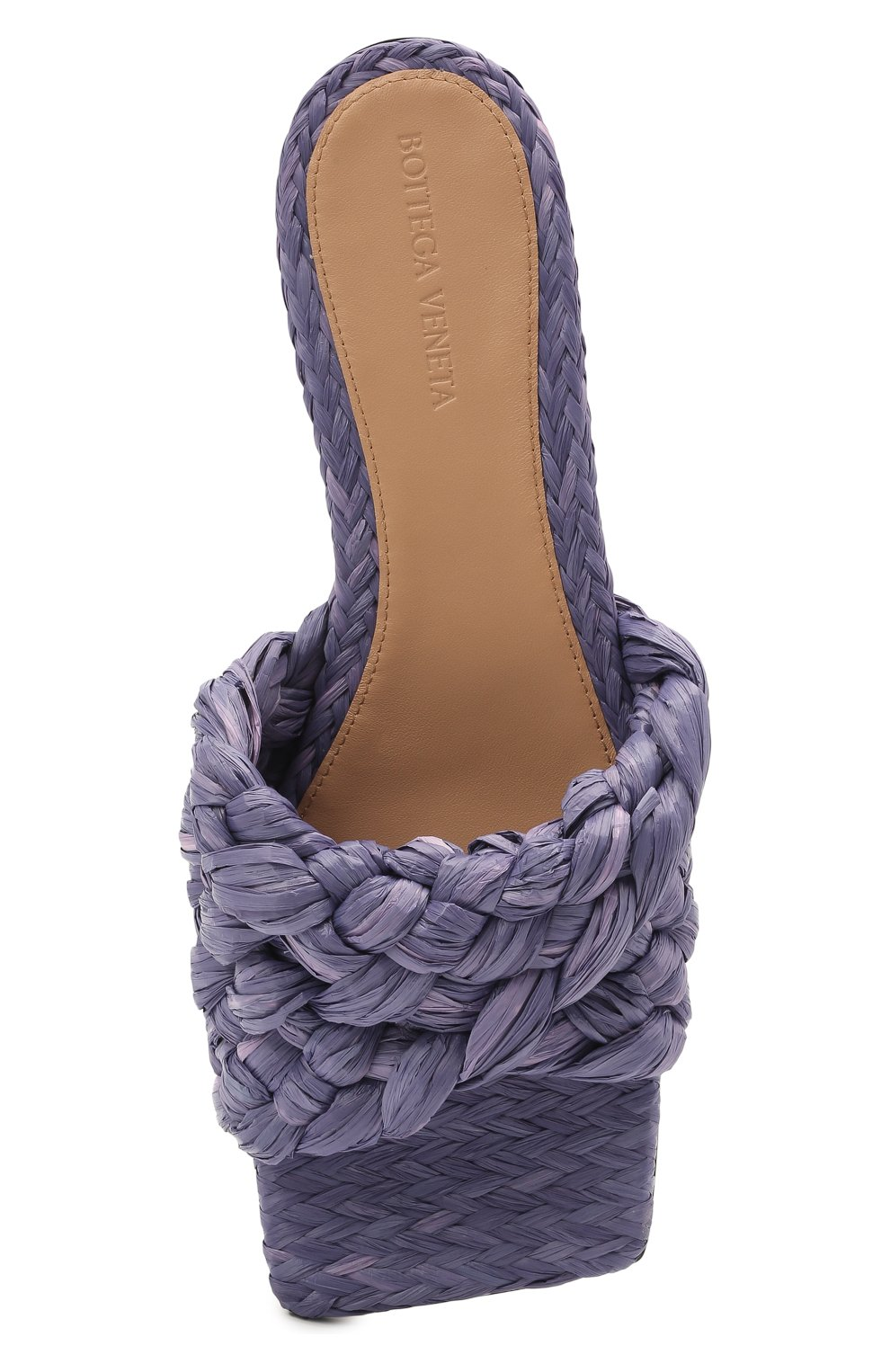 Женские текстильные шлепанцы stretch BOTTEGA VENETA сиреневого цвета, арт. 652860/V0GM0 | Фото 5