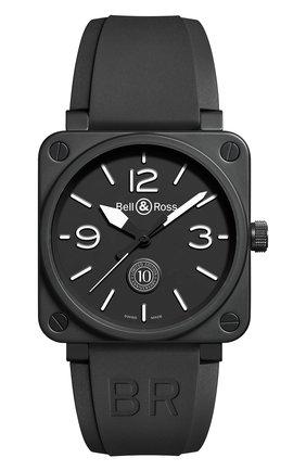 Мужские часы br 01 10th anniversary BELL & ROSS черного цвета, арт. BR0192-10TH-CE   Фото 1