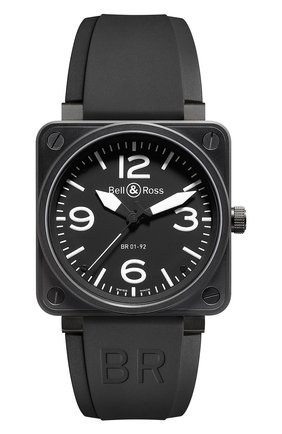 Мужские часы auto black carbon BELL & ROSS черного цвета, арт. BR0192-BL-CA   Фото 1