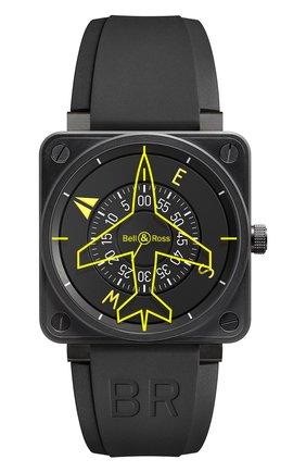 Мужские часы heading BELL & ROSS черного цвета, арт. BR0192-HEADING   Фото 1