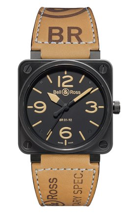 Мужские часы heritage BELL & ROSS черного цвета, арт. BR0192-HERITAGE   Фото 1