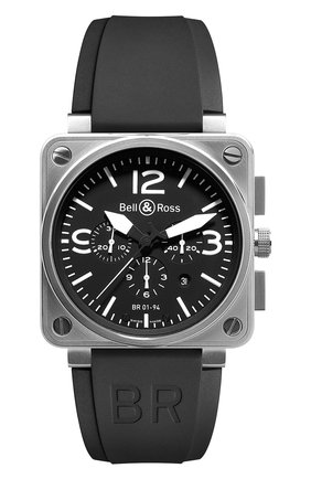 Мужские часы steel BELL & ROSS черного цвета, арт. BR0194-BL-ST   Фото 1