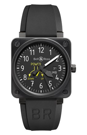 Мужские часы climb BELL & ROSS черного цвета, арт. BR0197-CLIMB   Фото 1