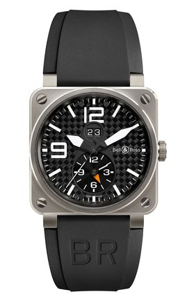 Мужские часы gmt 24h BELL & ROSS черного цвета, арт. BR03-51GMT   Фото 1