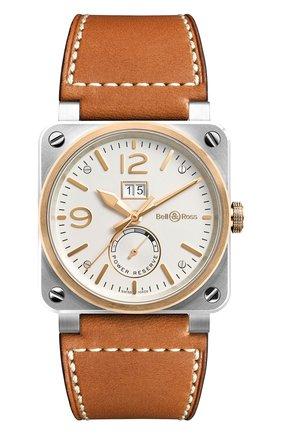 Мужские часы steel & rose gold BELL & ROSS белого цвета, арт. BR0390-BICOLOR | Фото 1