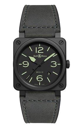 """Мужские часы """"nightlum"""" BELL & ROSS черного цвета, арт. BR0392-BL3-CE/SCA   Фото 1"""