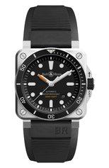 Мужские часы diver BELL & ROSS бесцветного цвета, арт. BR0392-D-BL-ST/SRB | Фото 1