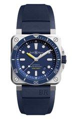 Мужские часы diver blue BELL & ROSS бесцветного цвета, арт. BR0392-D-BU-ST/SRB | Фото 1