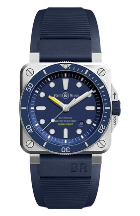 Мужские часы diver blue BELL & ROSS синего цвета, арт. BR0392-D-BU-ST/SRB   Фото 1