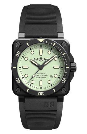Мужские часы br 03-92 driver full lum BELL & ROSS светло-зеленого цвета, арт. BR0392-D-C5-CE/SRB | Фото 1