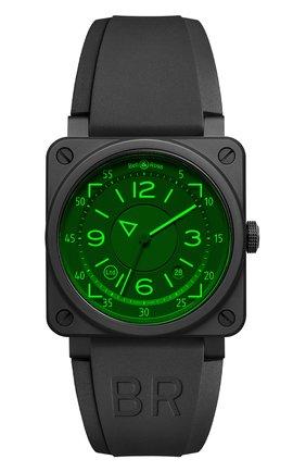 Мужские часы br 03-92 hud BELL & ROSS черного цвета, арт. BR0392-HUD-CE/SRB   Фото 1