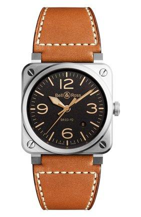 Мужские часы golden heritage BELL & ROSS коричневого цвета, арт. BR0392-ST-G-HE/SCA | Фото 1