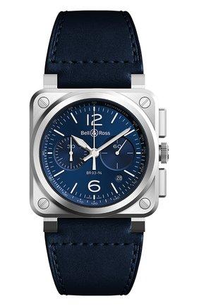 "Мужские часы ""blue steel"" BELL & ROSS синего цвета, арт. BR0394-BLU-ST/SCA | Фото 1"