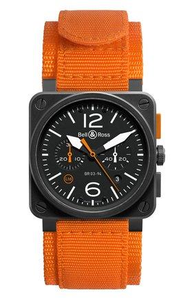 Мужские часы carbon orange BELL & ROSS черного цвета, арт. BR0394-O-CA | Фото 1
