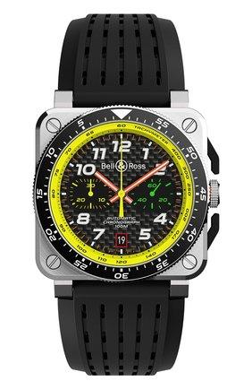 Мужские часы br03 94 crono rs19 BELL & ROSS черного цвета, арт. BR0394-RS19/SRB | Фото 1