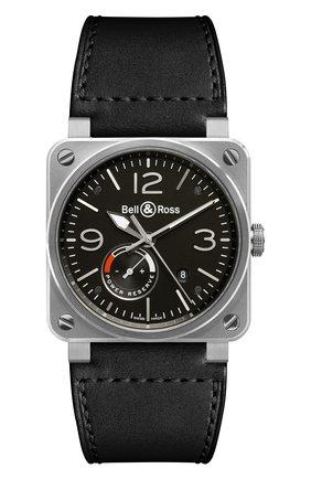Мужские часы reserve de marche BELL & ROSS черного цвета, арт. BR0397-BL-SI/SCA | Фото 1