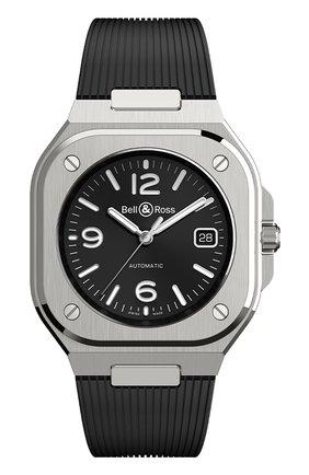 Мужские часы br 05 BELL & ROSS черного цвета, арт. BR05A-BL-ST/SRB | Фото 1