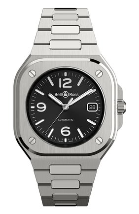 Мужские часы br 05 BELL & ROSS черного цвета, арт. BR05A-BL-ST/SST | Фото 1