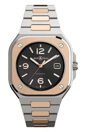 Мужские часы br 05 steel and rose gold BELL & ROSS черного цвета, арт. BR05A-BL-STPG/SSG | Фото 1