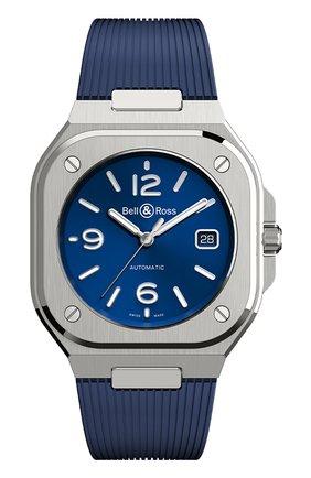 Мужские часы br 05 BELL & ROSS синего цвета, арт. BR05A-BLU-ST/SRB | Фото 1
