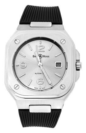 Мужские часы br 05 BELL & ROSS серебряного цвета, арт. BR05A-GR-ST/SRB | Фото 1