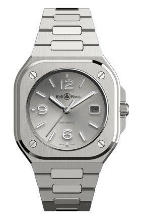 Мужские часы br 05 BELL & ROSS серебряного цвета, арт. BR05A-GR-ST/SST | Фото 1