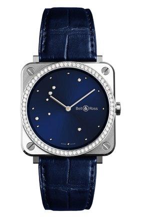 Женские часы diamond eagle diamonds BELL & ROSS бесцветного цвета, арт. BRS-EA-ST-LGD/SCR | Фото 1