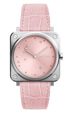 Женские часы pink eagle BELL & ROSS бесцветного цвета, арт. BRS-EP-ST/SCR | Фото 1