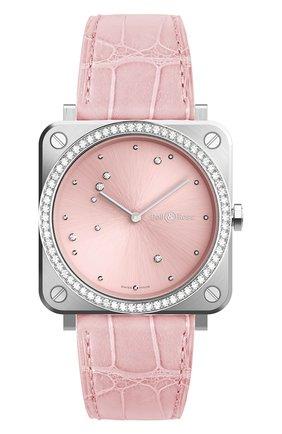 Женские часы pink diamond eagle diamonds BELL & ROSS бесцветного цвета, арт. BRS-EP-ST-LGD/SCR | Фото 1