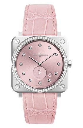 Женские часы steel small seconds pink watch BELL & ROSS бесцветного цвета, арт. BRS-PK-ST-LGD/SCR | Фото 1