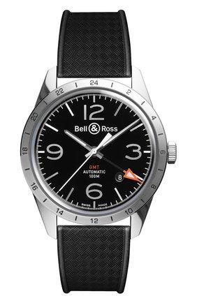 Мужские часы gmt 24h BELL & ROSS черного цвета, арт. BRV123-BL-GMT/SRB | Фото 1