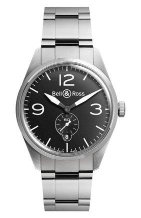 Мужские часы original black BELL & ROSS черного цвета, арт. BRV123-BL-ST/SST | Фото 1