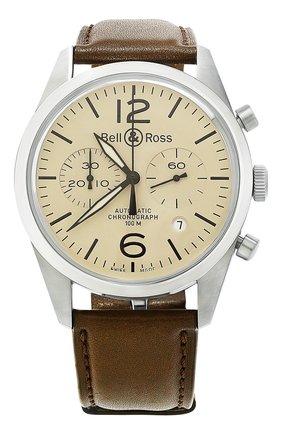 Мужские часы original beige BELL & ROSS бежевого цвета, арт. BRV126-BEI-ST/SCA | Фото 1