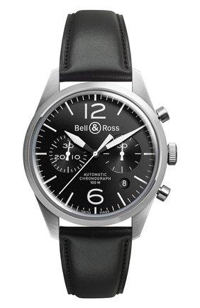 Мужские часы sport BELL & ROSS черного цвета, арт. BRV126-BL-BE/SCA | Фото 1