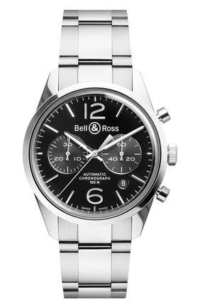 Мужские часы sport steel BELL & ROSS черного цвета, арт. BRV126-BL-ST/SST | Фото 1