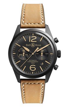 Мужские часы heritage BELL & ROSS черного цвета, арт. BRV126-HERITAGE | Фото 1