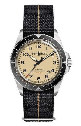 Мужские часы brv292 military beige BELL & ROSS бежевого цвета, арт. BRV292-BEI-ST/SF | Фото 1
