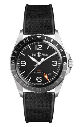Мужские часы vintage gmt BELL & ROSS черного цвета, арт. BRV293-BL-ST/SRB | Фото 1