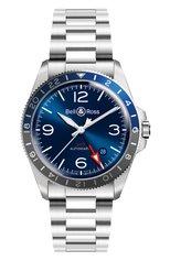 Мужские часы vintage gmt BELL & ROSS бесцветного цвета, арт. BRV293-BLU-ST/SST | Фото 1