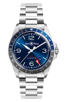 Мужские часы vintage gmt BELL & ROSS синего цвета, арт. BRV293-BLU-ST/SST | Фото 1