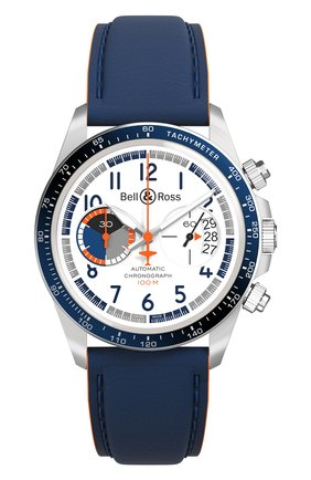 Мужские часы racing bird chrono BELL & ROSS белого цвета, арт. BRV294-BB-ST/SCA | Фото 1