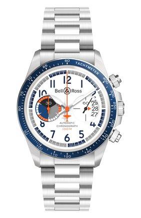 Мужские часы racing bird chrono BELL & ROSS белого цвета, арт. BRV294-BB-ST/SST | Фото 1