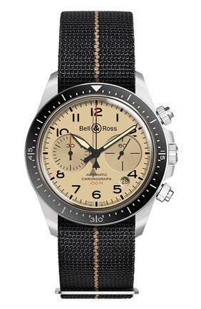 Мужские часы brv294 military beige chrono BELL & ROSS бежевого цвета, арт. BRV294-BEI-ST/SF | Фото 1